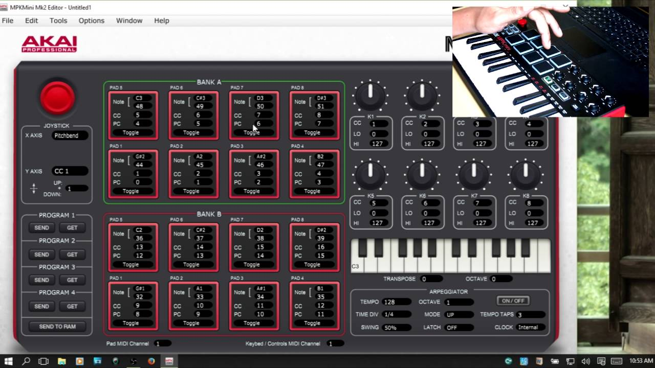 how to download mpk mini editor